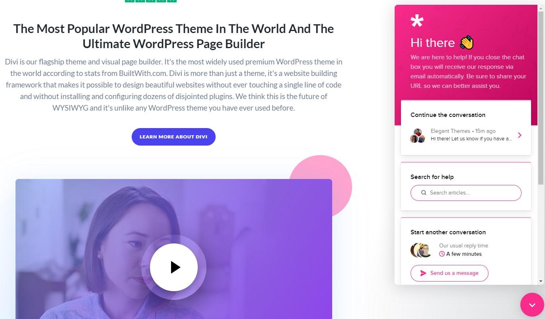 Homepage ElegantThemes