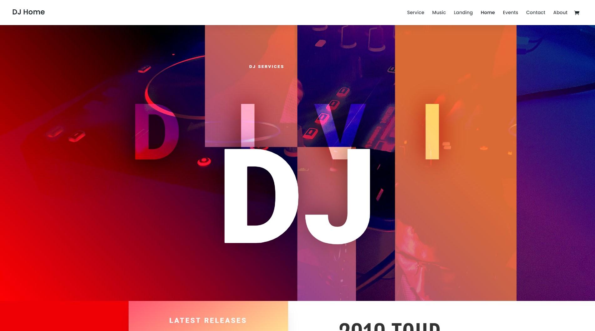 Homepage DJ