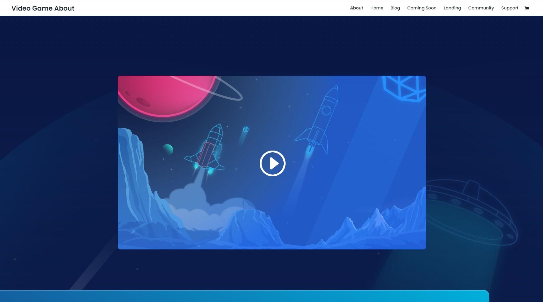 Homepage Videospiel