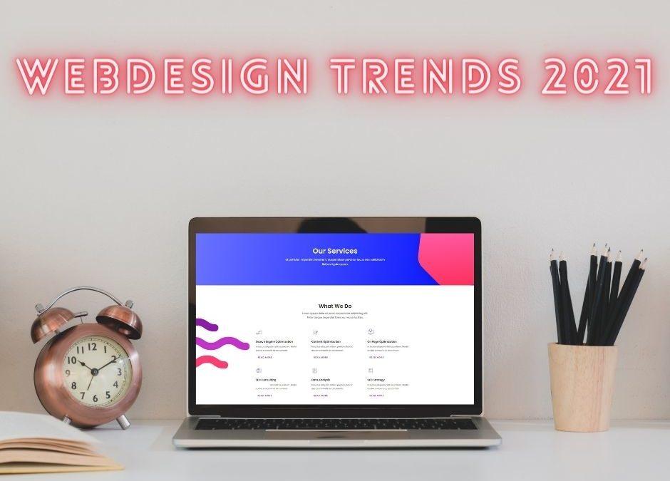 Modernes Webdesign: Einige Trends aus 2021